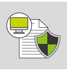 Internet security document computer protection vector