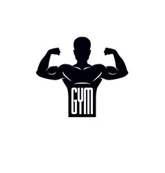logotype for heavyweight gym or fitness sport vector image vector image