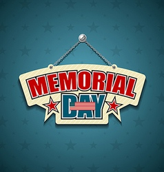 Memorial Day American signs vector image