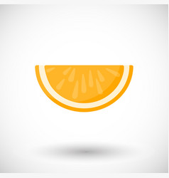 Orange segment flat icon vector