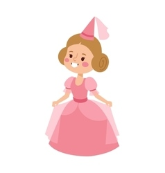 Princess character isolated vector image vector image