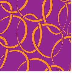 seamless wallpaper with intertwined rings vector image