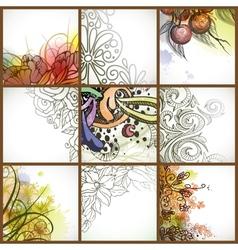 Set Of Floral Backgrounds vector image
