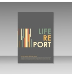 Simple brochure design for your report vector