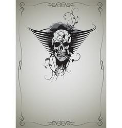 skull 04 vector image
