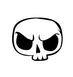 Skulls evil vector