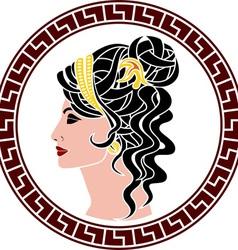 stencil of aristocrat woman vector image