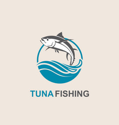 tuna fish icon vector image vector image