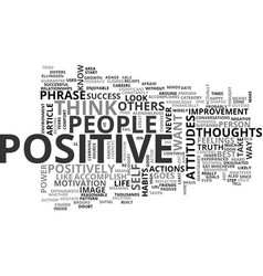 Why are positive thoughts so great text word vector