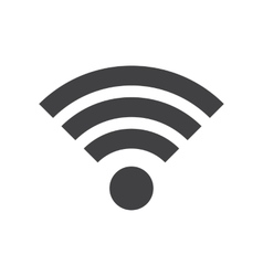 Wifi icon in flat style vector