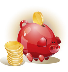 with piggy bank vector image