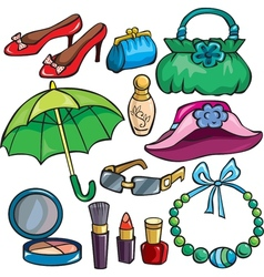 Women Accessories icon set vector image vector image