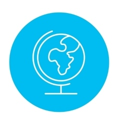 World globe on stand line icon vector image vector image