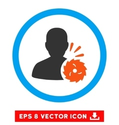 Body execution eps rounded icon vector