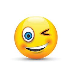 winking emoji vector image