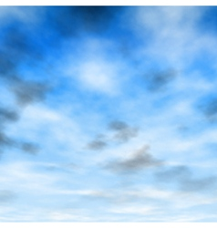 White and gray clouds vector image