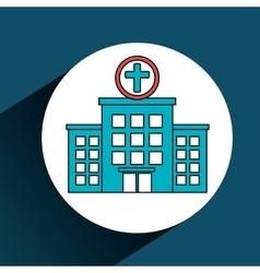 Hospital building services medical isolated vector