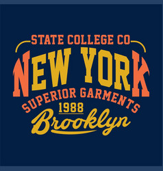 State college new york superior garments vector