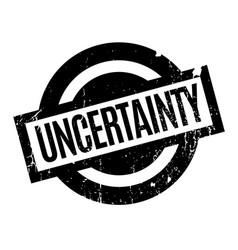 Uncertainty rubber stamp vector