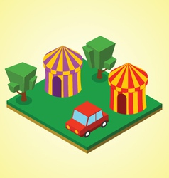 Carnival tent vector