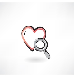 heart Study grunge icon vector image