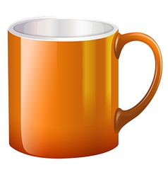A big orange mug vector