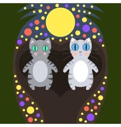 Romantic cats walking vector image