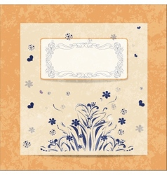 card Round oriental pattern on vintage vector image