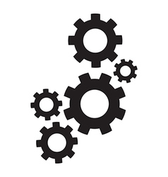 Set of cogs vector