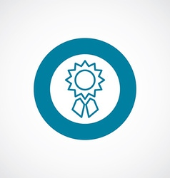 Achievement icon bold blue circle border vector
