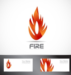 Fire or flame logo design vector