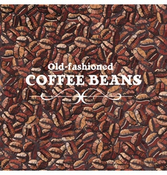 Roasted coffee beans seamless background vector