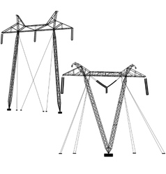 Transmission power lines vector