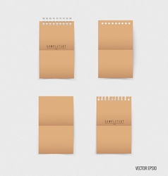 Paper catalog magazines book mock up vector