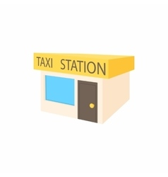 Taxi station icon cartoon style vector