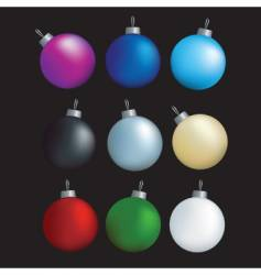 decorative balls vector image
