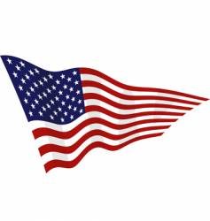 american flag on a wind vector image vector image
