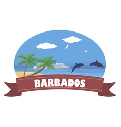 Barbados vector image