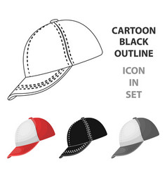 baseball cap baseball single icon in cartoon vector image vector image