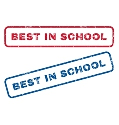 Best in school rubber stamps vector