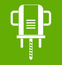Boer drill icon green vector