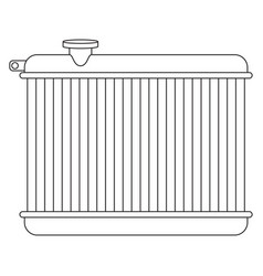 car radiator vector image