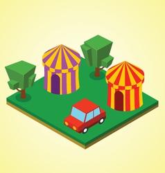 Carnival tent vector