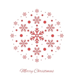 Christmas ball shape red ornament vector