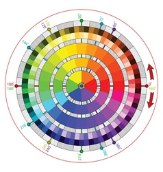 Complementary color wheel for artists vector