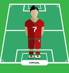 Computer game portugal soccer club player vector
