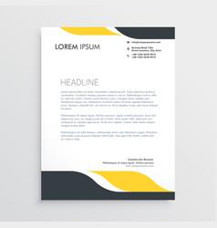creative letterhead design template vector image vector image