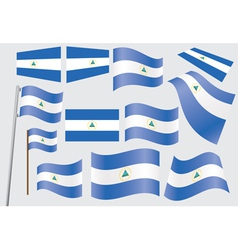 flag of Nicaragua vector image vector image