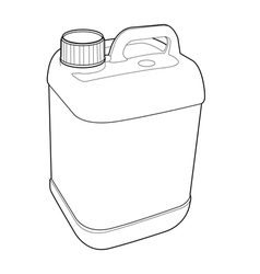 Gallon plastic outline vector