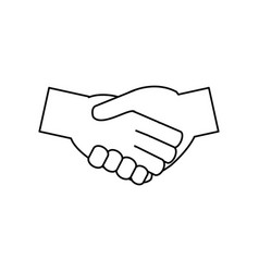 handshakes with vector image